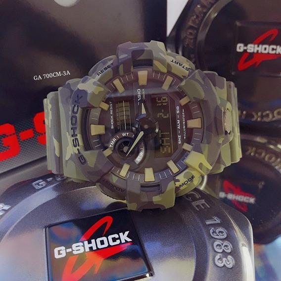 Relógio G-shock Ga-700cm-3a Camuflado (contate O Vendedor)