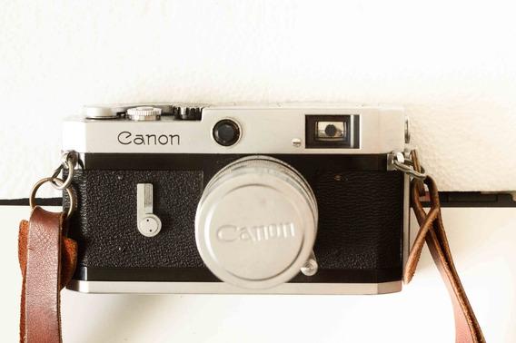 Canon Rangefinder Rosca Leica M39+ Lente Canon 50mm/1.8