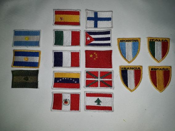 Parches Bordados Termoadhesivos Banderas