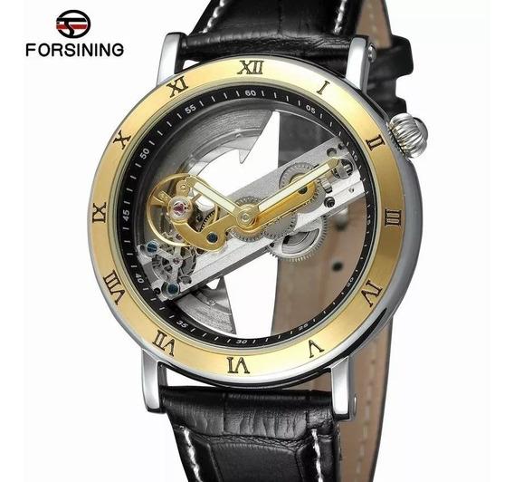 Relógio Forsining Automático Esqueleto + Caixa + Rel. Skmei