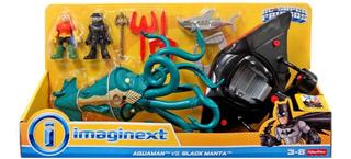 Aquaman Y Black Manta Con Naves - Imaginext - Fisher Price
