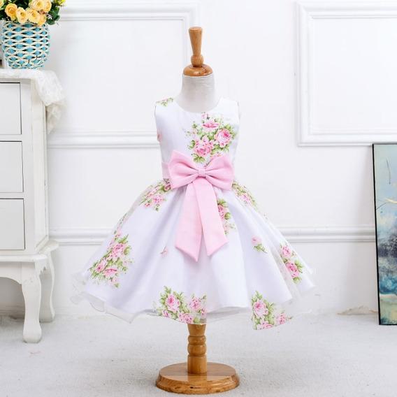 Vestido Infantil De Festa P Meninas Tamanhos 3 8 10 12 Anos