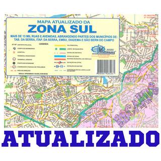 Mapa Parcial Da Cidade São Paulo Zona Sul Atualizado Dobrado