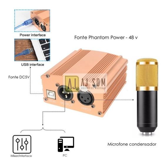 Phantom Power P/microfone Condensador Bm 800,arcano
