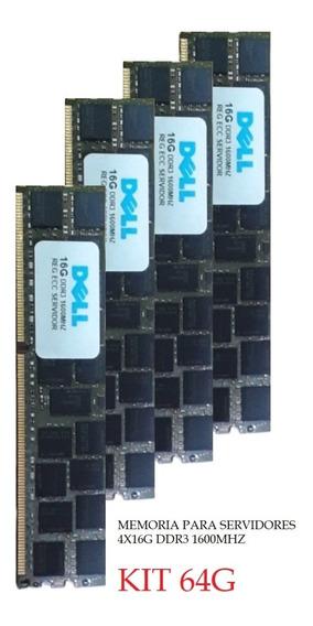 Kit 64gb 4x16gb Pc3l-12800r Dell Poweredge T320 T420 T620