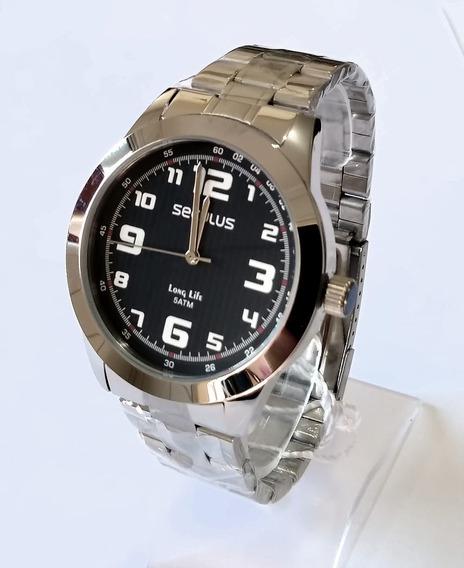 Relógio Prateado Masculino Seculus 28887g0svna1