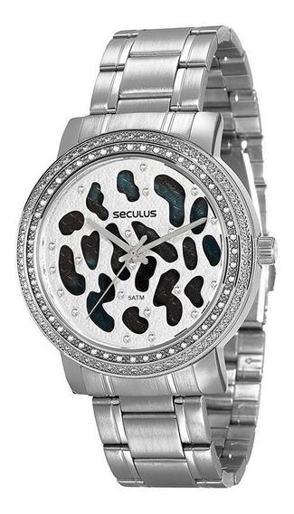 Relógio Feminino Seculus Analógico Prata 20237l0svns1