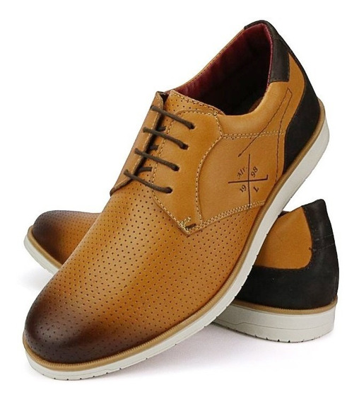 Sapato Sapatenis Social Top Masculino Couro Lançamento