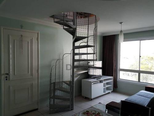 Imagem 1 de 19 de Cobertura A Venda Confortável E Bem Localizada. Aceita Permuta . - Co0338