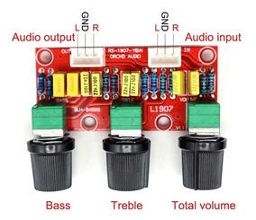 Pré Amplificador Stéreo Passivo Montado Grave, Agudo, Volume