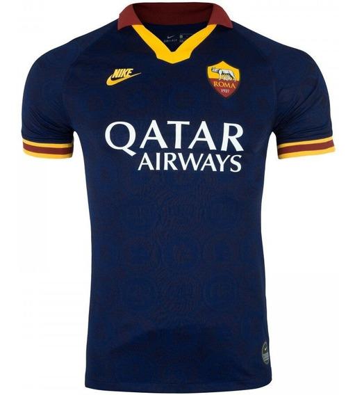 Camisa Roma Azul Uni Ill 2020 - 100% Original Envio Imediato