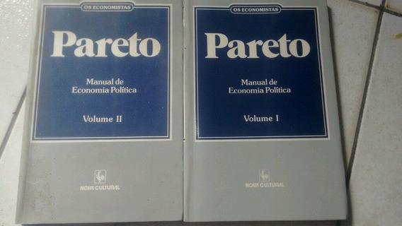 Pareto Os Economistas Manual De Economia Política Volume 1 E