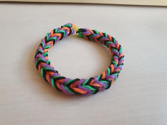 Pulseira Elastico 8 - Rainbow Loom 6 Unidades Coloridas Moda
