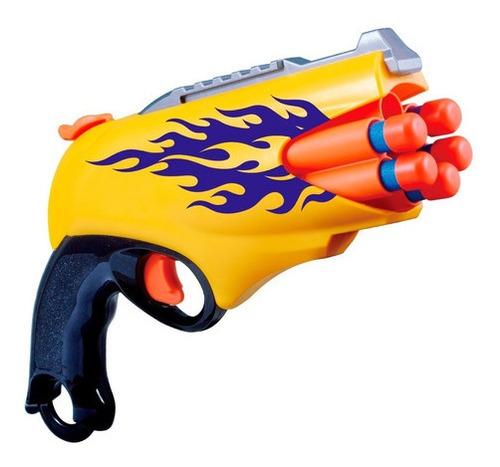Imagem 1 de 7 de Brinquedo Infantil Supershot Lança Dardos Pistola Nerf
