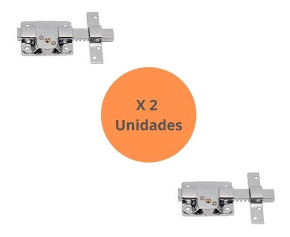 Cerrojo Pasador Llave Cruz Premium Cromo X 2 Unidades