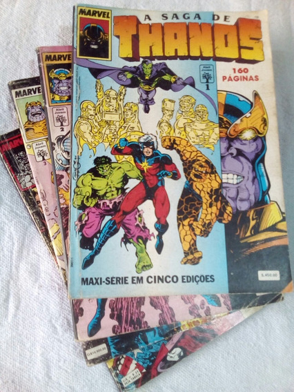 A Saga De Thanos Original 4 Volumes
