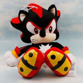Boneco Sonic Shadow Pelúcia Pronta Entrega Black Preto