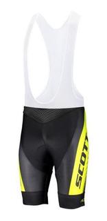 Lycra Pantaloneta Scott Ciclismo Mtb Tirantes Badana Gel 19d