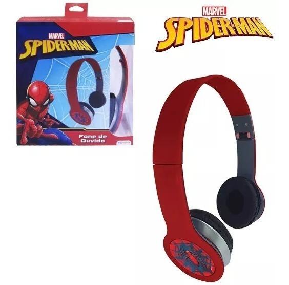Fone De Ouvido Dobravel Homem Aranha Spider Man Na Caixa