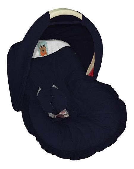 Capa Acolchoada Protetor Para Bebê Conforto Capota Marinho
