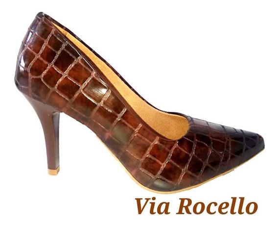 Sapato Scarpin 8 Fino Via Rocello