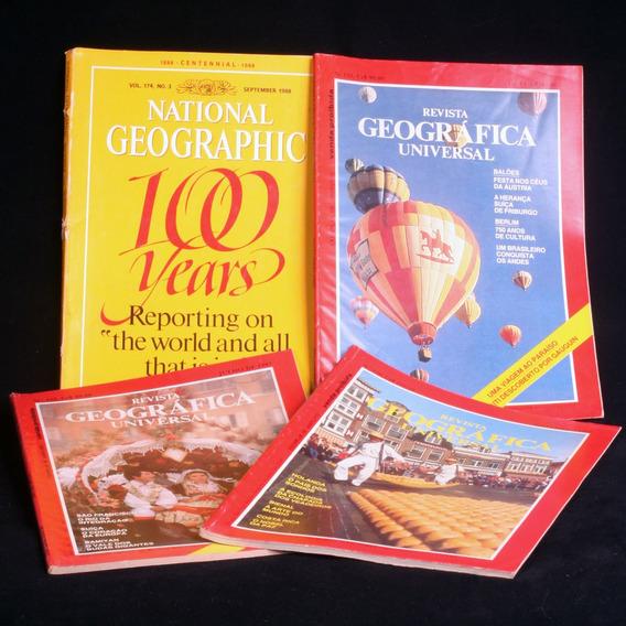 Lote Com 44 Revistas National Geographic Dos Anos 80