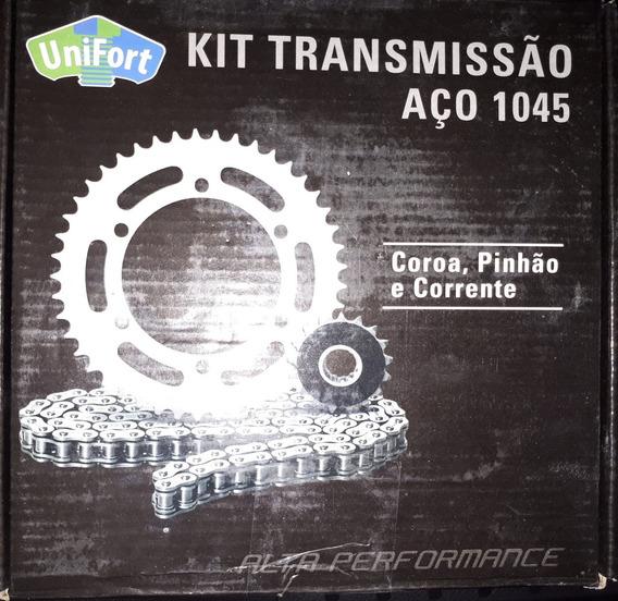 Kit Relação Yamaha Crypton-aço 1045- Completo.
