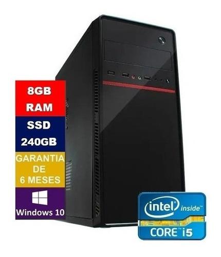 Imagem 1 de 3 de Pc Computador Core I5 650 + Ssd 240gb, 8gb Memória Ram+wifi