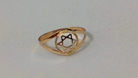 Anel De Ouro Estrela 10k R1