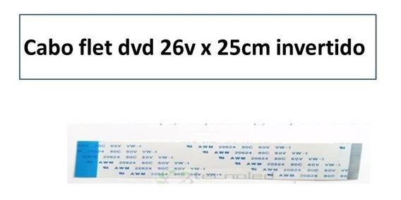 Cabo Flat Dvd 26v X 25cm Invertido(13mm De Largura)promoção