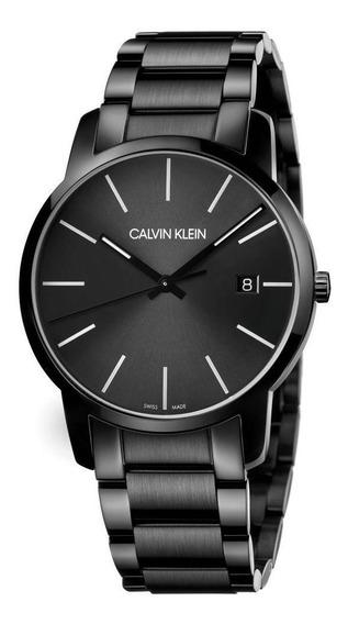 Relógio Masculino Calvin Klein City Aço Preto K2g2g4b1