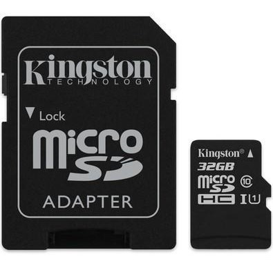 Cartão Micro Sd 32gb Classe10 Original Kingston 80mb/s Adapt