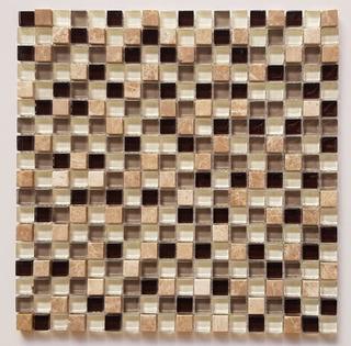 Placa Pastilha De Vidro Mix Marrom Pedra Bege Envio Full