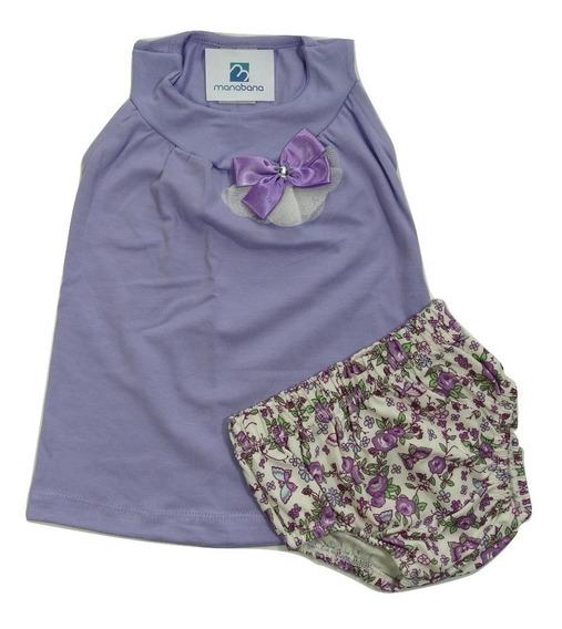 Conjunto Bebe Menina Blusinha Bata Shorts Enxoval Infantil