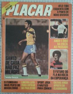 1977 Revista Placar Nº 375 Abril Pôster Rivelino Fluminense