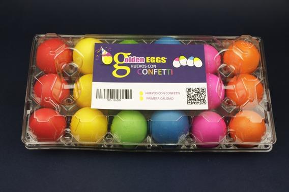 Huevos De Confeti Estuche Con 18 Pzas. - Golden Eggs