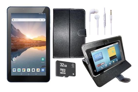 Tablet Azul M7s Plus 16gb 1gb Ram Android 8.1 Bluetooth Wifi Com Capa, Fone E Cartão 32gb