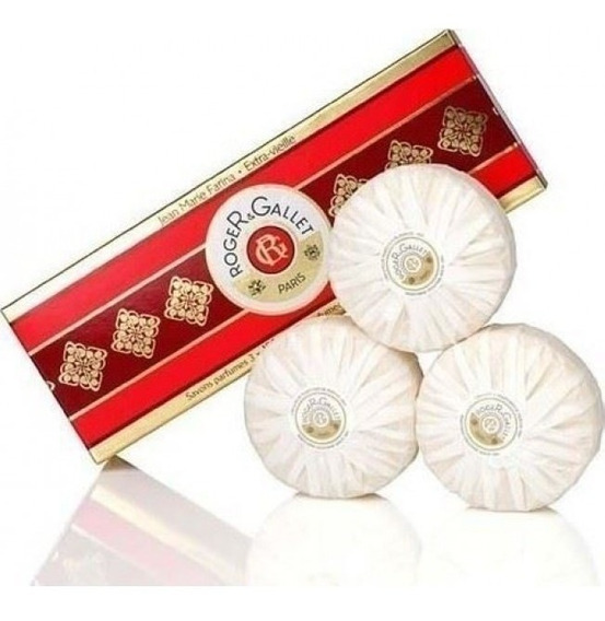 Pack Com 3 Sabonetes Perfumados Jean Marie Farina By Roger & Gallet (3 X 100g) Lacrado - Made In France