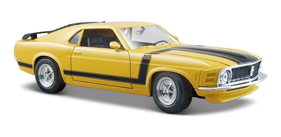Ford Mustang Boss 302 1970 Amarelo 1 24 Maisto Original
