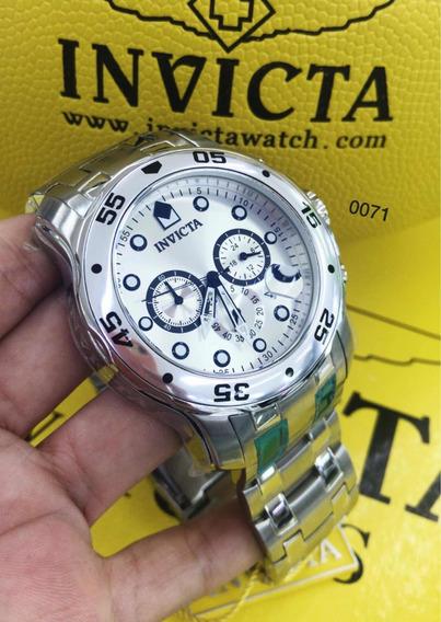 Relógio Invicta 0071 Original / Todo Prata .