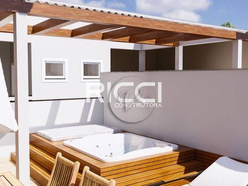 Imagem 1 de 12 de Cobertura À Venda, 42 M² Por R$ 389.000,00 - Campestre - Santo André/sp - Co0843