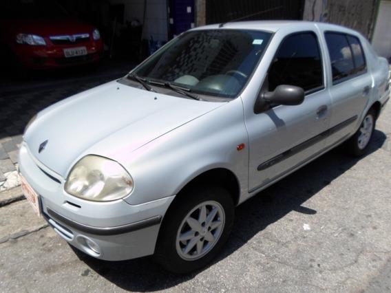 Clio Sedan Rt 2002, 1.6, Completo, Aceito Troca E Financio!!