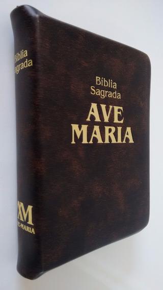 Bíblia Sagrada Ave Maria Média Zíper - Última Edição Palavra