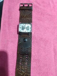 Líquido Reloj Rip Curl Hombre Cuero/a.inox. Perfecto Estado