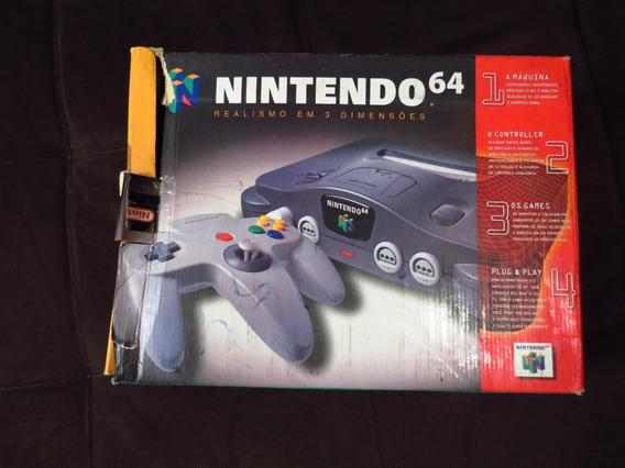 Vídeo Game Nintendo 64b Na Caixa - Estado De Novo