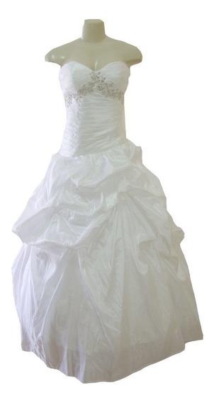 Vestido De Noiva Branco 40 42 44 - Fotos Reais - Vn00182