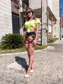 Conjunto Feminino Bory Boby E Short Roupas Femininas