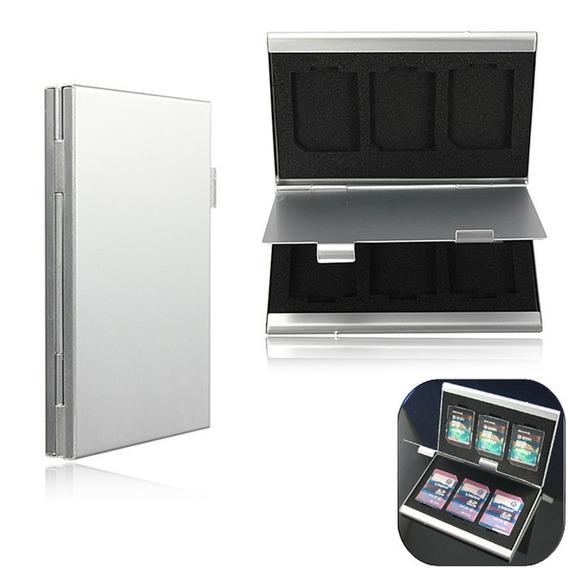 Case Sd Aluminio Porta Cartão De Memoria Sdhc Estojo - P19