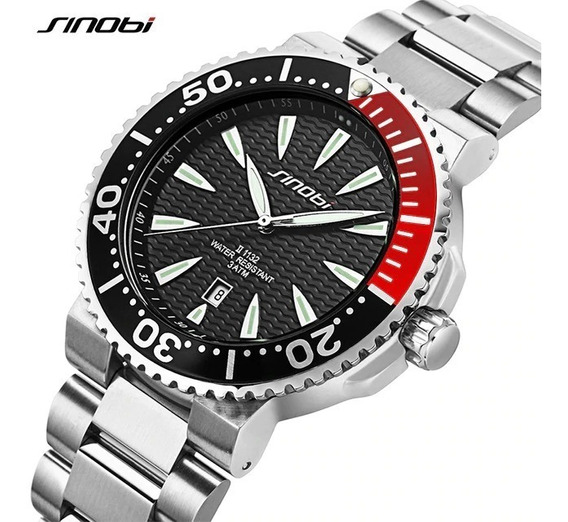 Relógio Pulso - Sinobi Aço Inoxidável