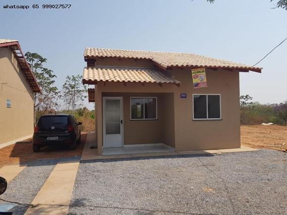 Casa Para Venda Em Várzea Grande, São Matheus, 2 Dormitórios, 1 Banheiro, 4 Vagas - 64_1-1224859